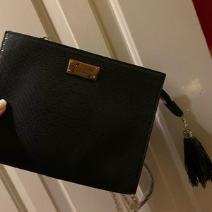 Black Victoria's Secret zip clutch purse